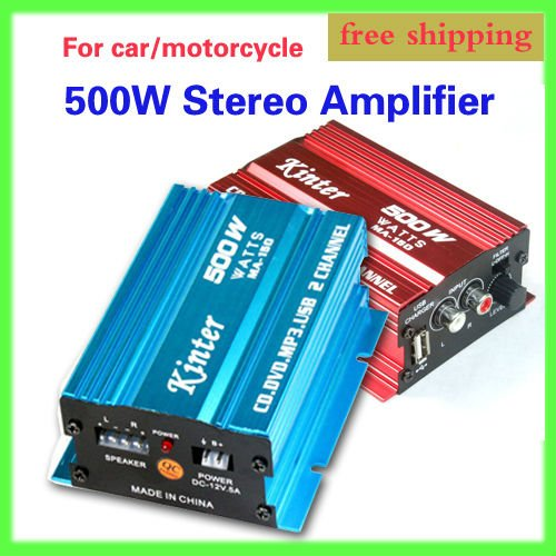 MP3 ATV AMPLIFIER AMP AMPS 2CH 500W MOTORCYCLE CAR Stereo Amplifier Speakers - Y&J Electronic store