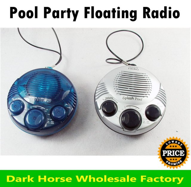 HOT!! Pool Party Floating AM/FM Radio shower radio 1pc free shipping