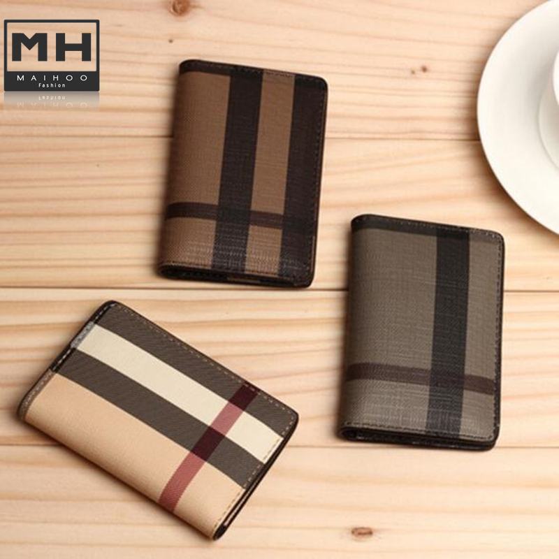 3 Colors New Brand Classic Plaid Design Card ID Holders High Quality Leather Pocket Bag For Mans/Womans Cheap Promotional(China (Mainland))