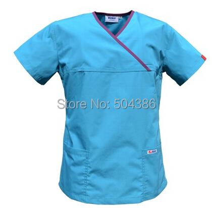 Matin medical scrub set for women acid blue(China (Mainland))