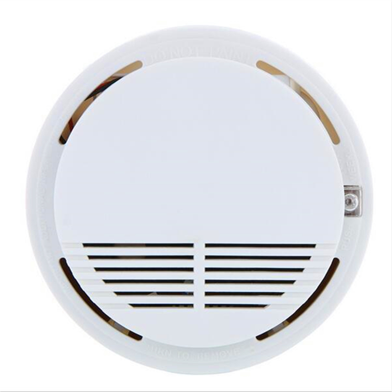 Security Smoke Detector Fire Smoke Alarm Sensor System Cordless Wireless White Home Security System for Home Kitchen