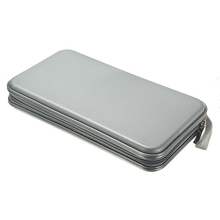 Hot Selling New 80 Disc CD DVD Carry Case Wallet Storage Holder Bag Hard Box - Silver(China (Mainland))