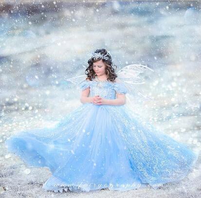 NEW 3-10yrs girls High quality Cinderella&elsa&anna princess dress for summer girls wedding dress girls clothing free shipping(China (Mainland))