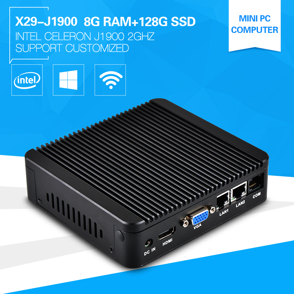 XCY 2015 High Performance Mini Computer J1900 2*LAN THIN CLIENT 8G RAM 128G SSD Support 1080P Full Screen Movie 2D Game Hotel pc(China (Mainland))