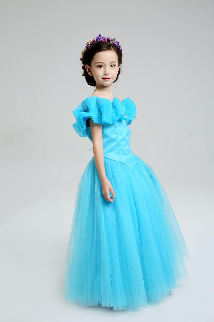 Скидки на Девушки платья Девушки Золушка платье принцессы качество всей сети во-первых, это платья