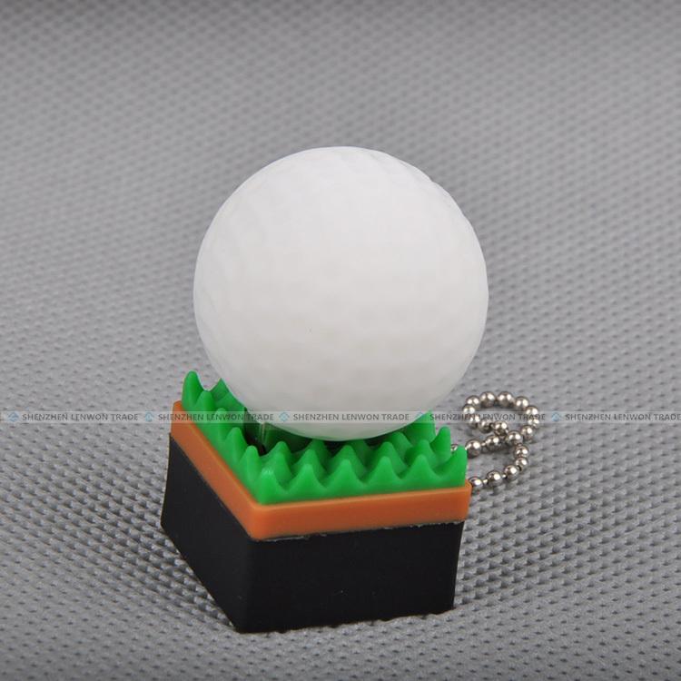 New arrivel! Cartoon Golf Ball USB 2.0 Flash Disk 2GB 4GB 8GB 16GB 32GB USB Thumb Stick pen/gift free shipping(China (Mainland))