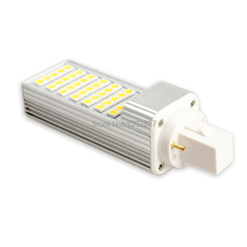 Free shipping G24 Horizontal Plug Light 7W 5050 35 LED Spot Flat Lamp Bulb Warm White SGG#(China (Mainland))