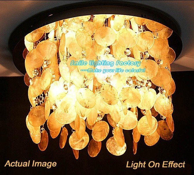 Hot Selling 3 light Modern Style Natural Shell ,Ctrystal Ceiling Lamp,Hall Lamp<br><br>Aliexpress
