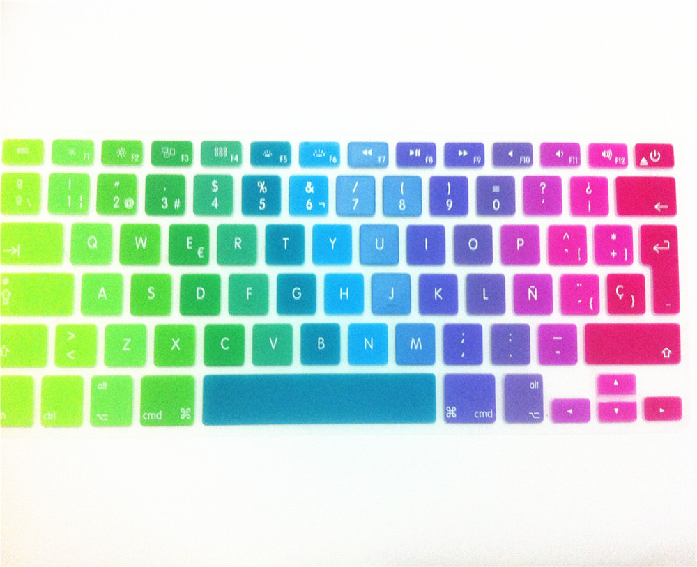 Keyboard Cover Skin Protector For Apple MacBook Pro air 13 15 17 For Mac book Spanish UK EU(China (Mainland))