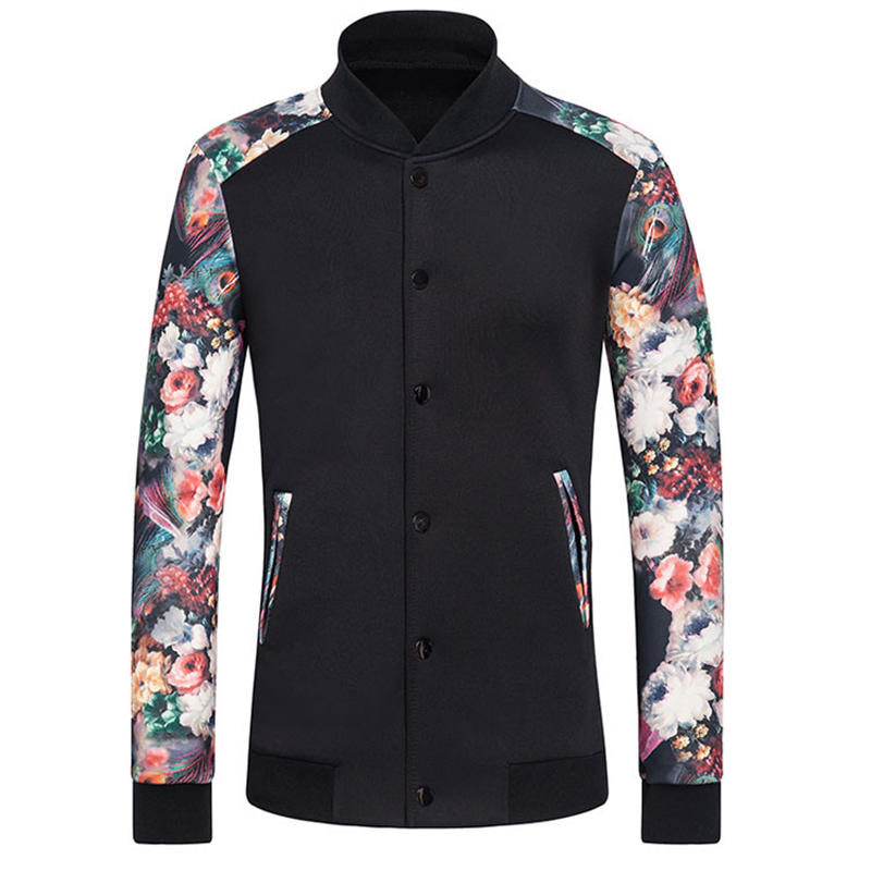 Hitz mens jacket and coats comfortable space cotton floral Designer clothing for men online sales