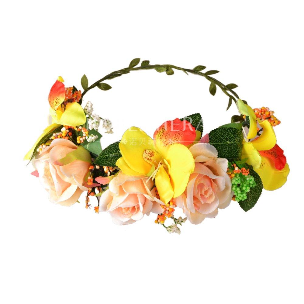 Mới cưới trẻ em Floral Thái hoa nhân tạo Silk Daisy PE bọt tăng Hawaii vòng hoa đầu 780E(China (Mainland))
