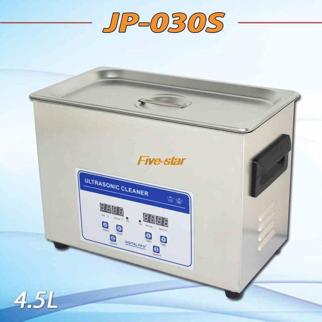 Free shipping globe Ultrasonic cleaner 4.5L timer&heating LCD digital AC110v/220V JP-030s medical instrument ,PCB
