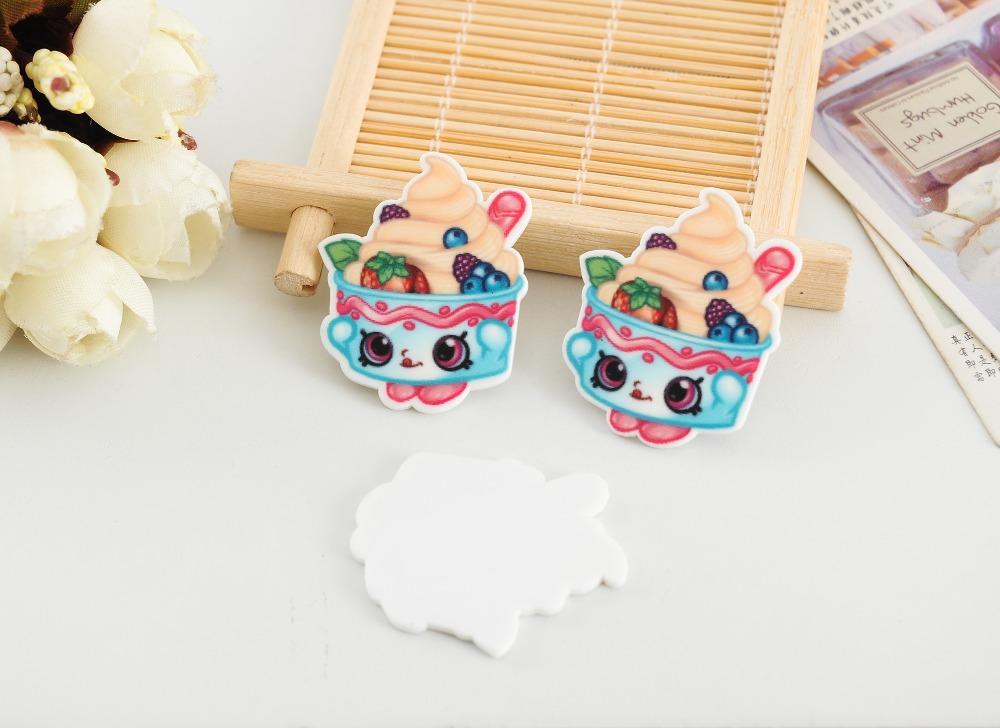 artesanato Kawaii flat back planar resin Cartoon ice cream Figurine holiday decoration crafts DIY phone hair Bow accessories(China (Mainland))
