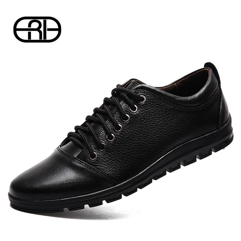 Luxury shoes mens fashion sneakers black lace up leather shoes casual moccasins men Flats brands men shoes leather Spring Autumn(China (Mainland))