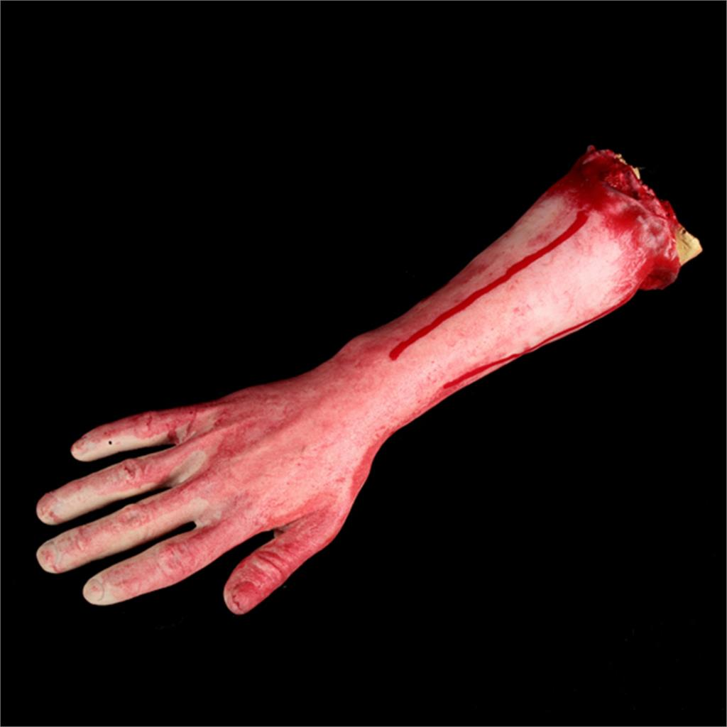 1pc Horrible Disgusting Severed Scary Cut Off Bloody Fake Latex Arm Hand Halloween Prop Toys Novelty Practical Jokes Toy(China (Mainland))
