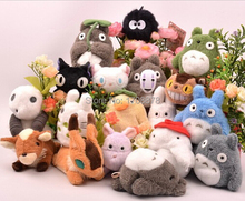10pcs/lot Hayao Miyazaki Totoro Spirited Away Princess Mononoke KiKis Delivery Service Castle in the Sky Plush Toy Stuffed Doll(China (Mainland))