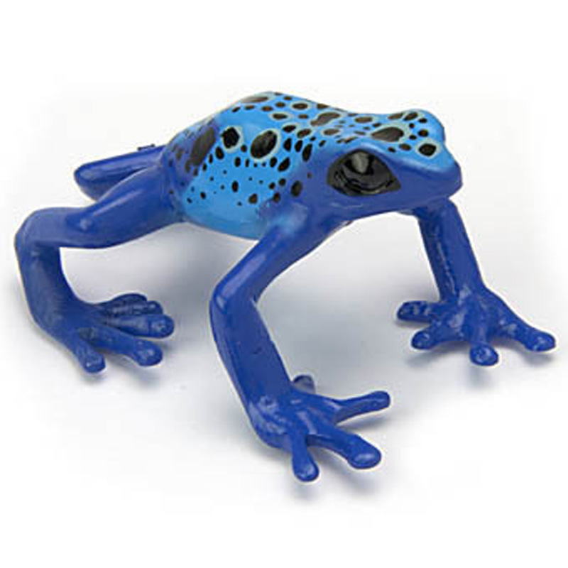 Japanese blue poison frog spotted frog model collection of about 5 cm children's cognitive enlightenment Animals(China (Mainland))