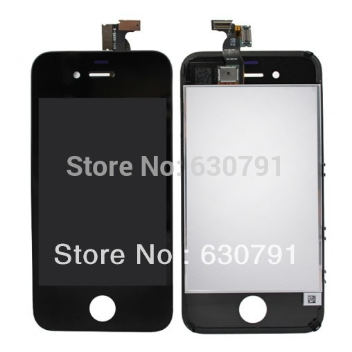 OEM LCD Display+Touch Screen digitizer+Frame assembly for iPhone 4,Black/white DHL or UPS Free Shipping