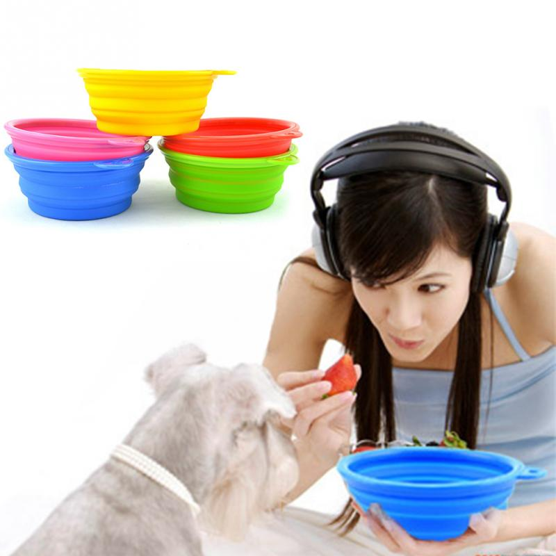 Practical Portable Folding Silicone Pet Bowl Wholesale For Pet Drinking And Eating(China (Mainland))