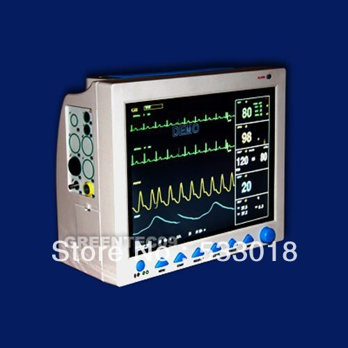 CE FDA Certified Veterinary Patient Monitor, VET Use Medical Monitor, 6 Parameters Printer 3Y Warranty(China (Mainland))