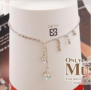 Accessories sparkling hot-selling claw chain cool drop tassel anklets female(China (Mainland))