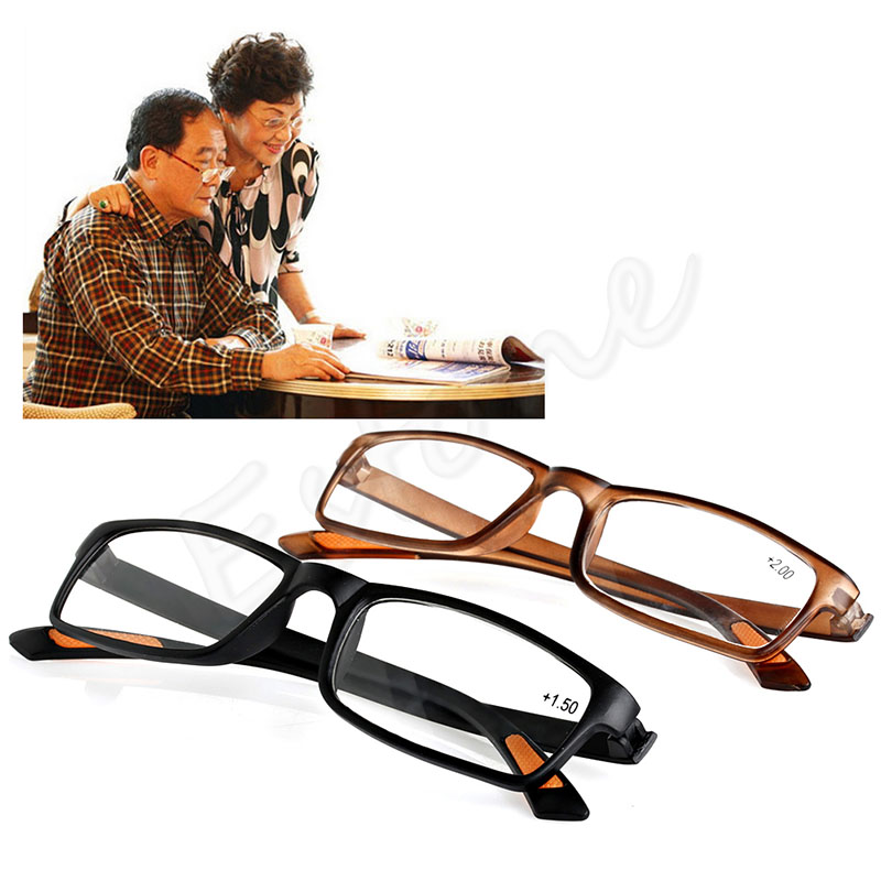 Unisex Resin Framed Reading Glasses +1.00 1.50 2.00 2.50 3.00 3.50 4.00 Diopter Free Shipping