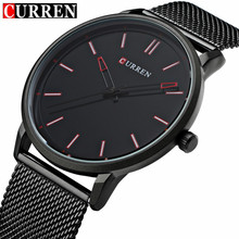 Buy Fashion Top Luxury brand CURREN Watches men Stainless Steel Mesh strap Quartz-watch Ultra Thin Dial Clock man relogio masculino ) for $14.35 in AliExpress store