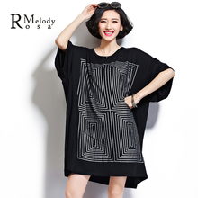 4XL 5XL Plus Size Women Tops and Shirts Casual Style Geometric Maze Short Sleeve Loose Cotton Shirts for Women(R.Melody DS0014)(China (Mainland))