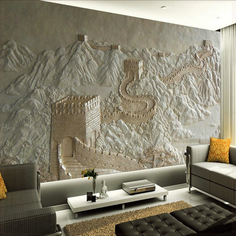3d wall murals wallpaper great wall landscape for living room bedroom