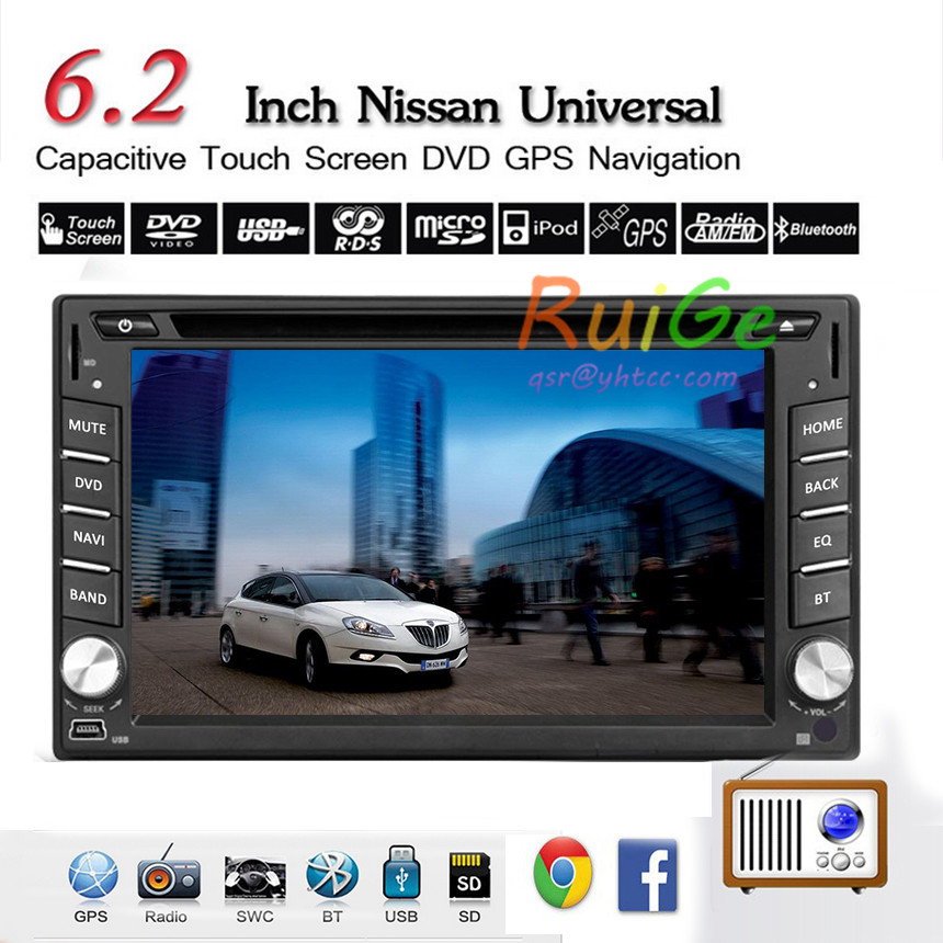 """GPS Navigation 2 din android car dvd gps Universal Car DVD Player HD 6.2"""" Car GPS Radio Double DIN Stereo BT Touch Screen()"""