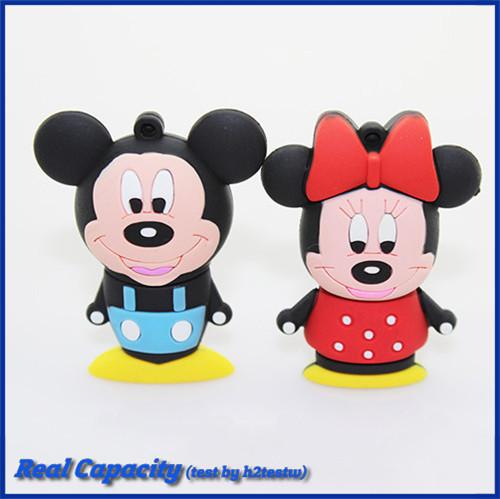 free shipping usb flash drive 8gb pendrive micky mouse pen drive usb stick 2GB 4GB 8GB 16GB 32GB cool gift(China (Mainland))