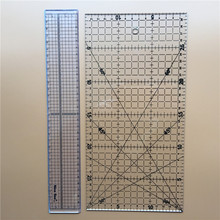 Free Shipping 2pcs Acrylic Material 15 * 30cm / 5 * 30cm Black Transparent Ruler Scale Tool Patchwork Quilting Ruler(China (Mainland))