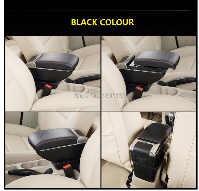 BIGGER SPACE&LUXURY Car armrest box central Store content box with cup holder&LED suitable for PEOGEUT 301 2012-14 NEW ELYSEE