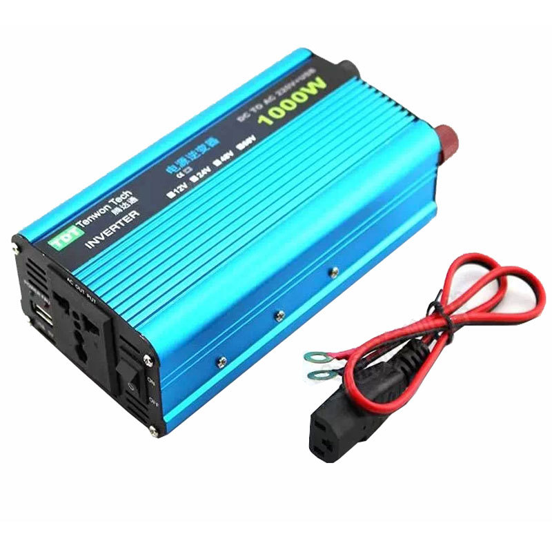 1KW Generalduty battery power inverter DC 12V/24V/48V to AC 220V110V high power for Wind Turbine or solar energy FREESHIPPING(China (Mainland))