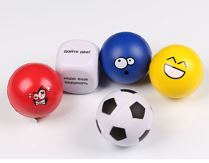 New PU stress ball 5pc/lot bubble football colorful baby toy bubble soccer Wrist Bouncy Exercise Ball Squeezing Venting Ball Toy(China (Mainland))