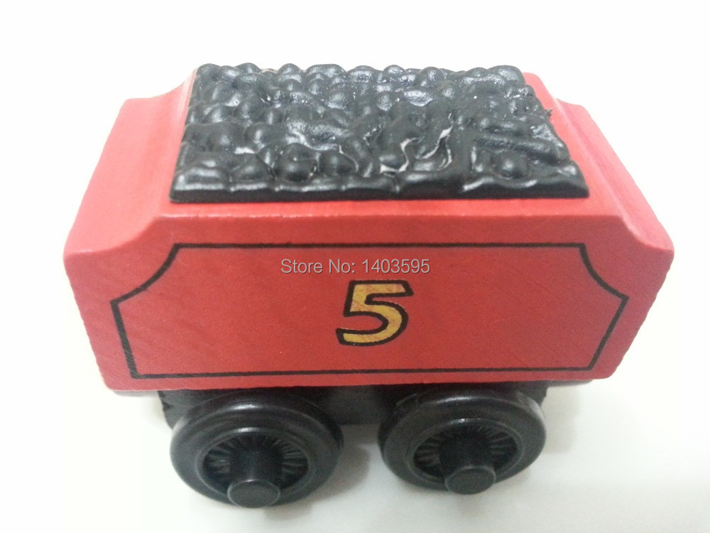 Thomas & Friends No.5 James Tender Magnetic Wooden Toy Train Loose Brand New In Stock & Free Shipping(China (Mainland))
