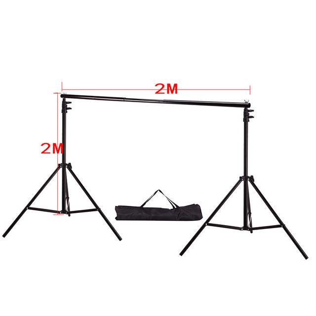 DHL Or EMS  2M X 2M(6.5ft*6.5ft) Photo Backdrops Background Support System Stands With Photography Studio Adjustable Crossbar