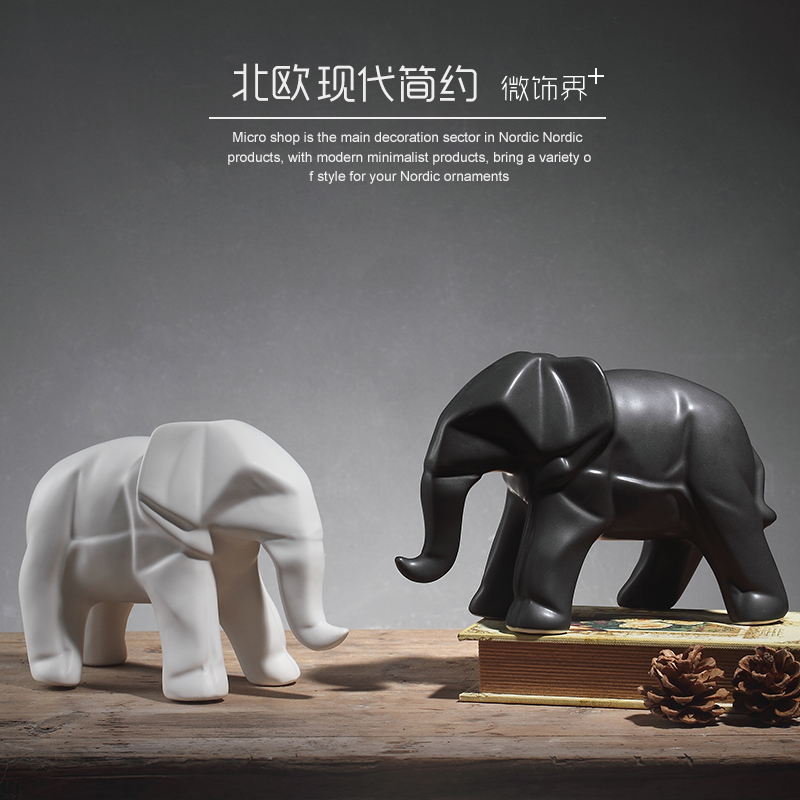 Online buy wholesale african animal figurines from china African elephant home decor