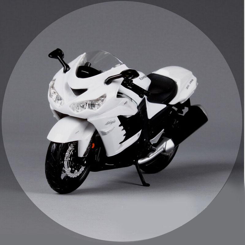 1:12 brand new children mini kawasaki ninja ZX 14R metal diecast models bike motorcycle race toy cars alloy white gift for kids(China (Mainland))