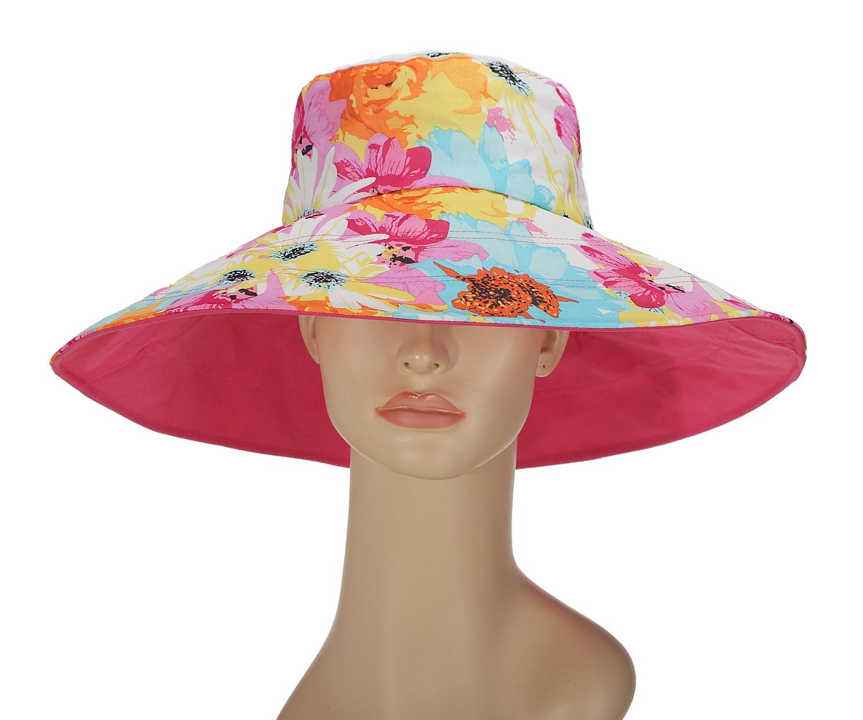 Wholesale 6pcs/Lot 2016 Women Big Brim Floral Beach Bucket Hats Nice Ladies Foldable Cotton Summer Sun Caps Women Wide Brim Cap Одежда и ак�е��уары<br><br><br>Aliexpress