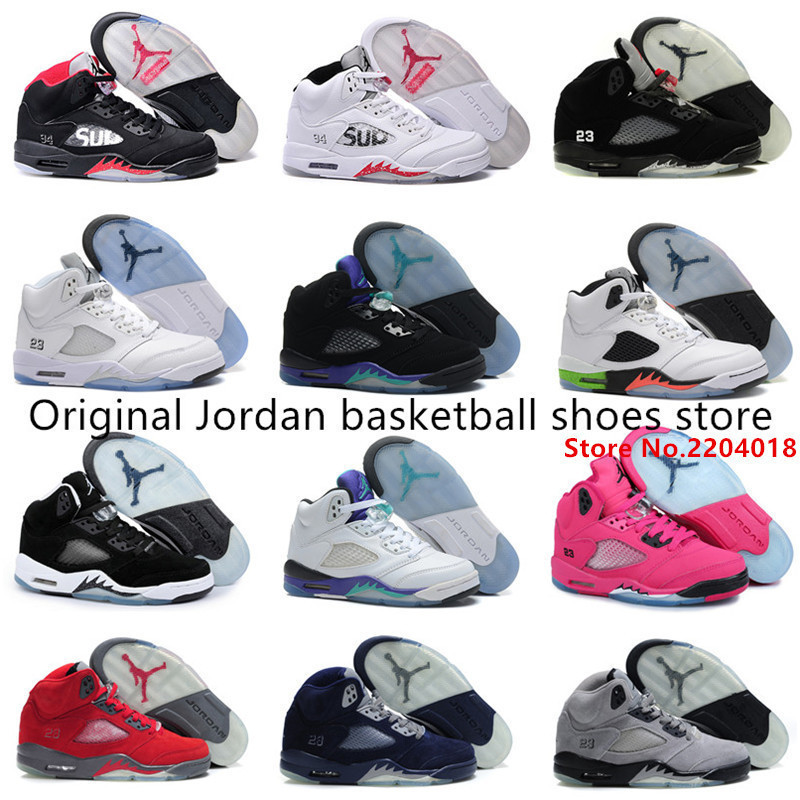 New Free shipping new Jordan 5 SHOES hot women authentic 100% best quality RETRO Women fashion brand US 5.5-8.5 with box(China (Mainland))