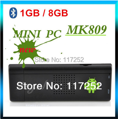 Bluetooth MK809 Android 4.4.2 Mini PC TV Stick Rockchip RK3066 Cortex A9 1.6GHz Dual core 1GB RAM 8GB ROM MK809III TV Box(China (Mainland))