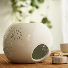 white ceramic essential oil burner  porcelain incense burner scented oil diffuser in high quality(China (Mainland))