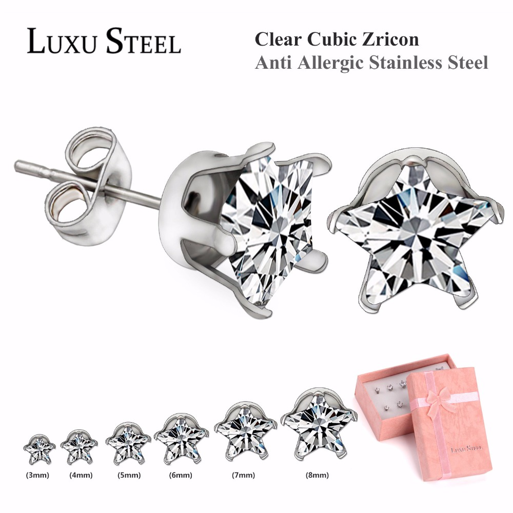 New Arrival Rose Shaped Stud Earrings Set With Box For Women,Silver/Gold Ear Holder With White Crystal Earrings Set Mixed Size(China (Mainland))