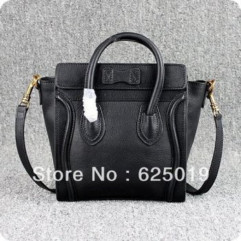 free shipping discount Clenie brand  Boston Black Leather Bags for sale Womens Classic Bags