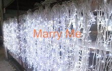 3x3 Meters Christmas LED Light Curtain Backdrop Fairy String Of Lights Free Shipping(China (Mainland))