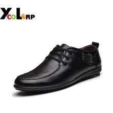 2016 Zapatillas Mujer Autumn Shoes Men Shoes Genuine Leather Shoes Breathable British Autumn Tide Low To Help Business Casual