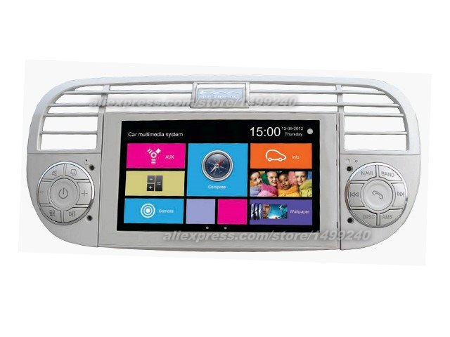 For Fiat 500 2007~2013 - Car Stereo Radio DVD Player GPS Navigation 1080P Touch Screen W8 Multimedia System(China (Mainland))