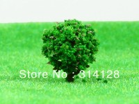 Free shipping 100pcs/lot the model material is 2.0 cm high round ball plastic tree YQ - 03