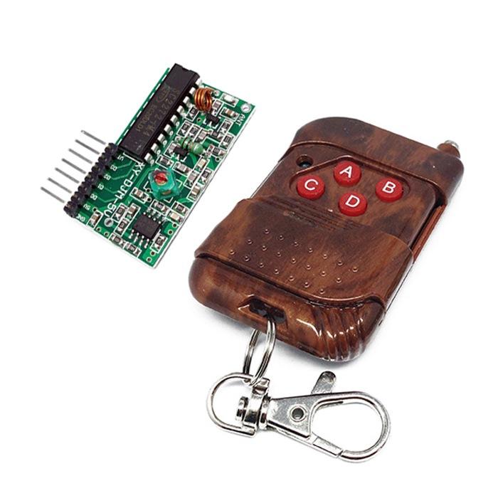 Гаджет  Original IC 2262/2272 4 CH 433Mhz Key Wireless Remote Control Kits Receiver module Forarduino Free&Drop Shipping None Электронные компоненты и материалы